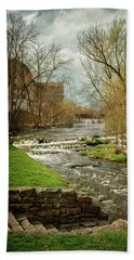 Old Mill On The River Hand Towel