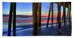 Hand Towel featuring the photograph Old Orchard Beach Pier -maine Coastal Art by Joann Vitali
