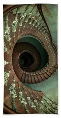 Old Ornamented Spiral Staircase Hand Towel