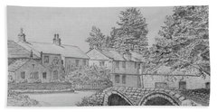 Old Packhorse Bridge Wycoller Hand Towel by Anthony Lyon