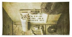 Old Paper Boy News Stand Hand Towel