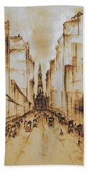 Old Philadelphia City Hall 1920 Bath Towel
