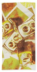 Old Photo Cameras Hand Towel