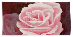 Old Pink Rose Bath Towel
