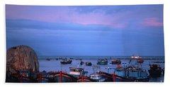Old Port Of Nha Trang In Vietnam Hand Towel