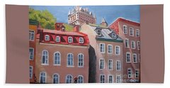 Old Quebec City Bath Towel