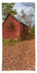 Old Red Barn Woodstock Vermont Bath Towel