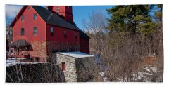 Hand Towel featuring the photograph Old Red Mill - Jericho, Vt. by Joann Vitali