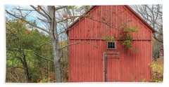 Old Red New England Barn Building Woodstock Vermont Bath Towel