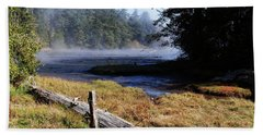Old River Scene Bath Towel