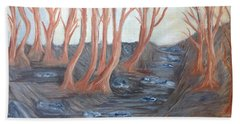 Old Road Through The Trees Bath Towel