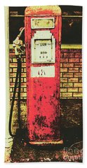 Old Roadhouse Gas Station Bath Towel