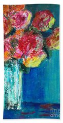 Old Roses Bath Towel