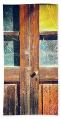 Hand Towel featuring the photograph Old Rotten Door by Silvia Ganora