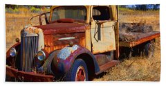 Old Rusting Flatbed Truck Bath Towel