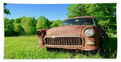 Old Rusty Car Bath Towel