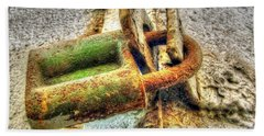 Old Rusty Lock Hand Towel by Yury Bashkin
