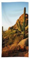 Old Saguaro Cactus Bath Towel