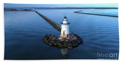 Old Saybrook Outer Lighthouse Bath Towel