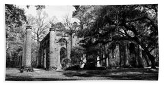 Hand Towel featuring the photograph Old Sheldon Church  by Gary Wightman