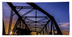 Old Steel Bridge Bath Towel