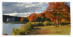 Old Stone Church Autumn Glow Bath Towel