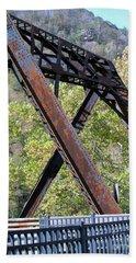 Old Thurmond Bridge Hand Towel by Sandy McIntire