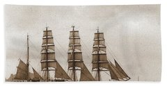 Old Time Schooner Hand Towel