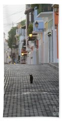 Old Town Alley Cat Hand Towel
