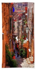 Old Town Dubrovniks Inner Passages Hand Towel
