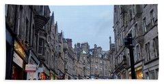 Old Town Edinburgh Bath Towel by Margaret Brooks