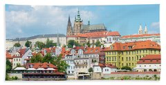 Old Town Prague Skyline Bath Towel