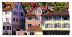 Old Town Zurich, Switzerland Bath Towel