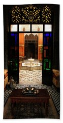 Old Traditional Riad In Fez Hand Towel by Ralph A  Ledergerber-Photography
