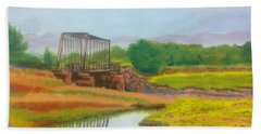Old Train Bridge -annapolis Royal  Bath Towel
