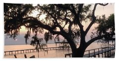 Old Tree At The Dock Hand Towel by Christin Brodie