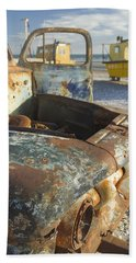 Old Truck In The Beach Hand Towel by Silvia Bruno