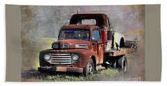 Hand Towel featuring the photograph Old Trucks by Savannah Gibbs