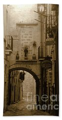 Old Village Street Bath Towel