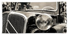 Citroen Traction Avant Bath Towel by Andrea Mazzocchetti