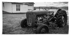 Bath Towel featuring the photograph Old Vintage Tractor Iceland by Edward Fielding