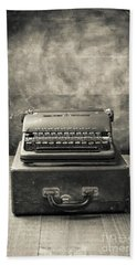 Hand Towel featuring the photograph Old Vintage Typewriter  by Edward Fielding