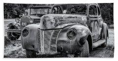 Old Warrior - 1940 Ford Race Car Bath Towel