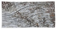 Old Weathered Wood Abstract Bath Towel
