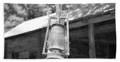Old Western Lantern Hand Towel by Ray Shrewsberry