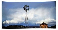 Old Windmill And Tank 2017 Bath Towel