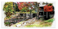 Bath Towel featuring the photograph Old Wooden Mill by Joseph Hendrix
