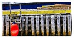 Old Wooden Pier In Newfoundland Hand Towel