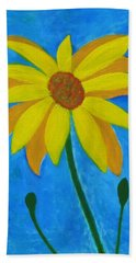 Old Yellow  Bath Towel by John Scates