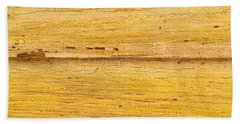 Hand Towel featuring the photograph Old Yellow Paint On Wood by John Williams